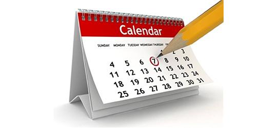 Mark your calendar!!